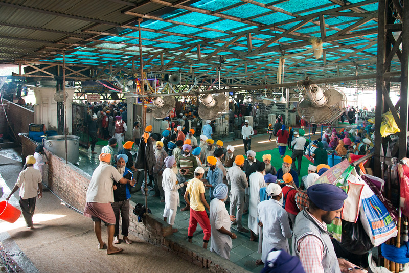 "Vast quantities of food is cooked and offered free every day at The Harmandir Sahib (Punjabi: ਹਰਿਮੰਦਰ ਸਾਹਿਬ), also Darbar Sahib (Punjabi: ਦਰਬਾਰ ਸਾਹਿਬ, )(The abode of God), and informally called the ""Golden Temple"", is the holiest Sikh gurdwara located in the city of Amritsar, Punjab, North India."