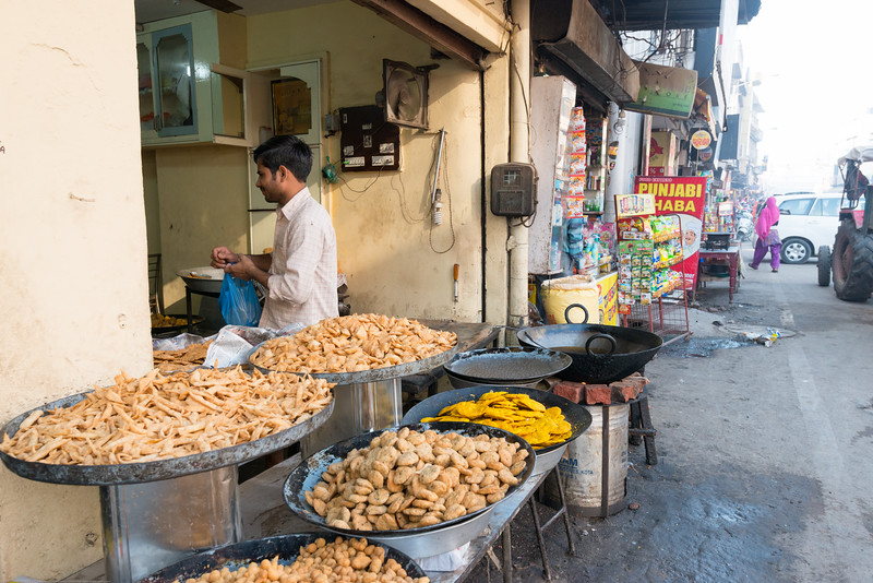 Street food at Amritsar, Punjab, North India, near the Golden temple.