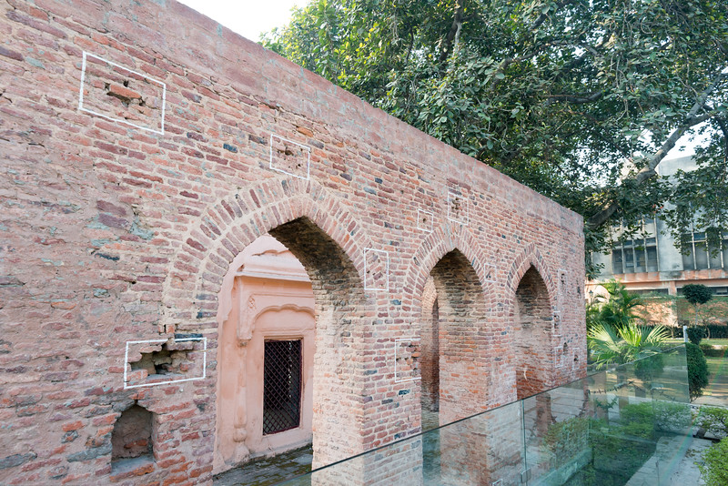 Bullet marks, visible on preserved walls, at present-day Jallianwala Bagh