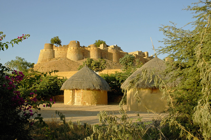 Jaisalmer Fort, Rajasthan, India as seen from the city.