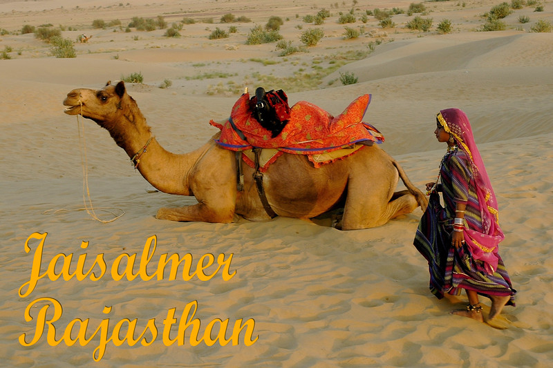 Young dancer in the Sam sand dunes of Jaisalmer, Rajasthan, India.