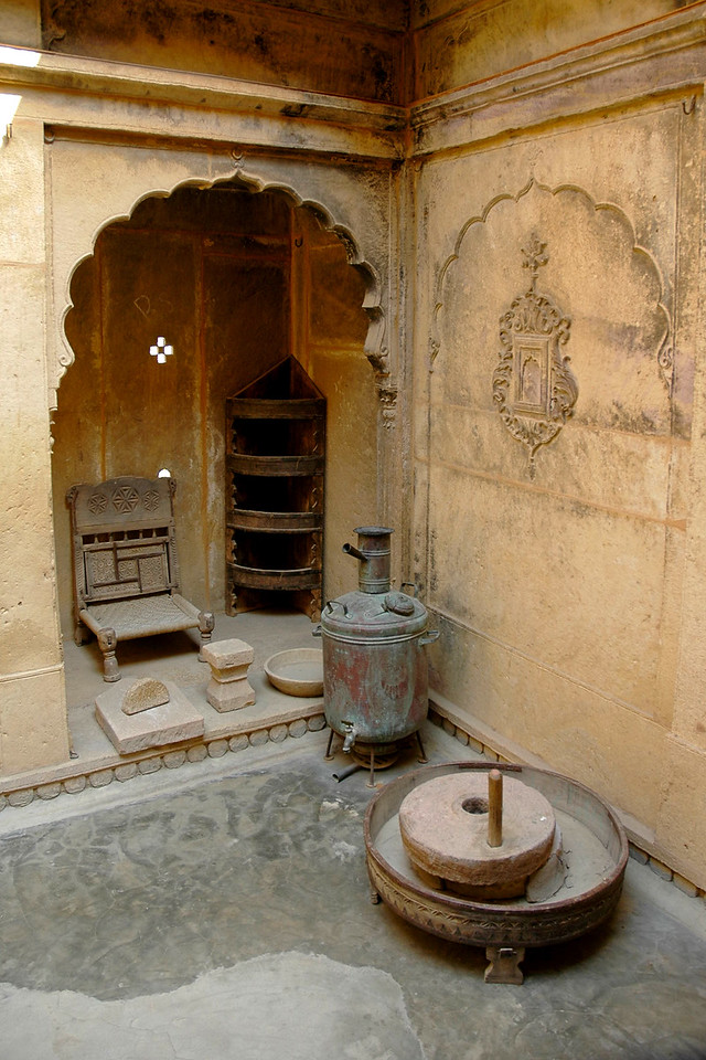 Old items in a haveli in Jaisalmer City, Rajasthan, India.