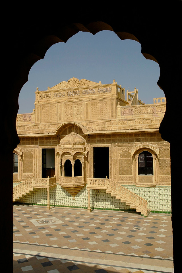 Yellow stone havelis of Jaisalmer City, Rajasthan, India.