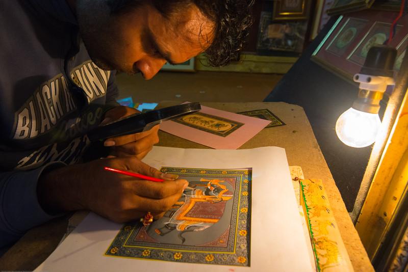 Detailed and fine art work at Jaisalmer, Rajasthan, India.