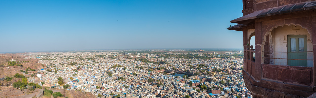 Panoramic view of Jodhpur City from Mehrangarh Fort, Jodhpur, Rajasthan, India