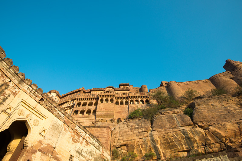 Mehrangarh Fort evening view, Jodhpur, Rajasthan, India.