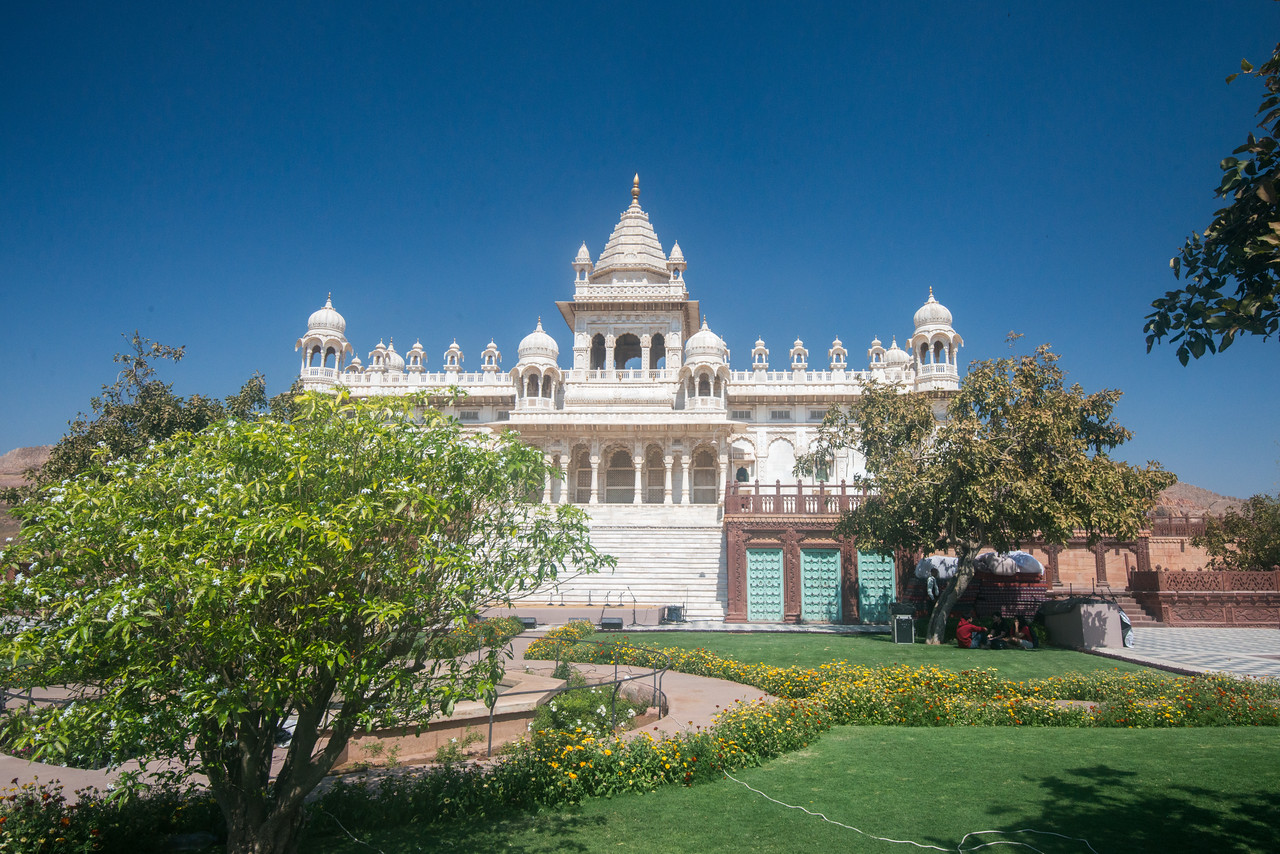 Front view of Jaswant Thada, Jodhpur, Rajasthan, Western India.