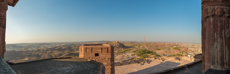 Panoramic view from Mehrangarh Fort, Jodhpur, Rajasthan, India