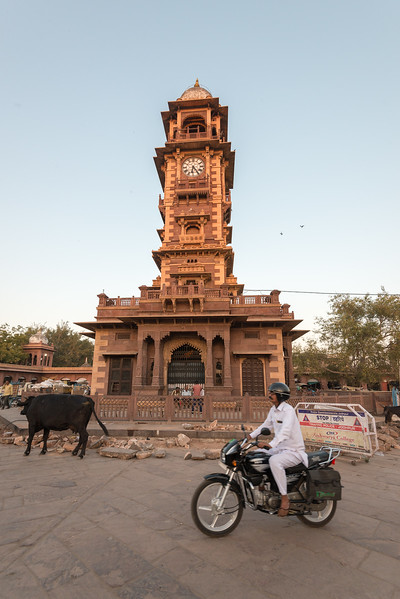 Clock Tower at Ghantaghar market, Jodhpur, Rajasthan, India.