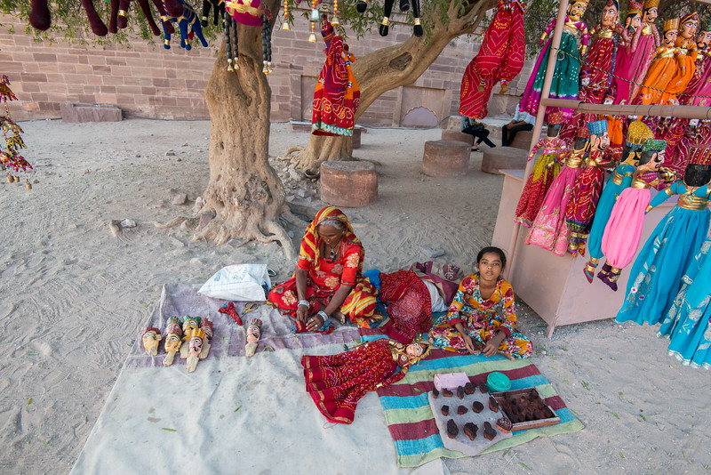 Puppets made and being sold at Mehrangarh Fort, Jodhpur, Rajasthan, India.