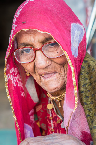 Old lady at Jodhpur, Rajasthan, India