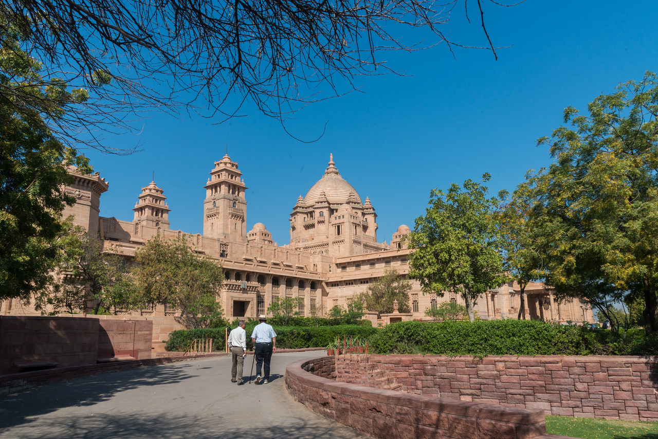 Umaid Bhawan Palace was called Chittar Palace during its construction due to use of stones drawn from the Chittar hill where it is located. Ground for the foundations of the building was broken on 18 November 1929 by Maharaja Umaid Singh and the construction work was completed in 1943. The Palace was built to provide employment to thousands of people during the time of famine. The Palace is divided into three functional parts – the residence of the royal family, a luxury Taj Palace Hotel, and a Museum focusing on the 20th century history of the Jodhpur Royal Family.