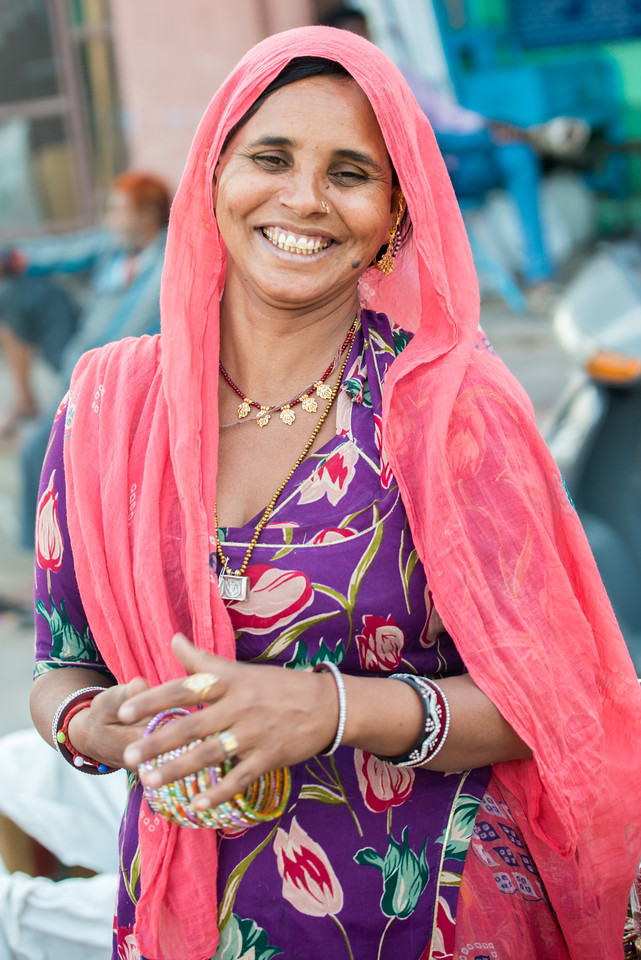 Women selling bangles at Ghantaghar market, Jodhpur, Rajasthan, India.