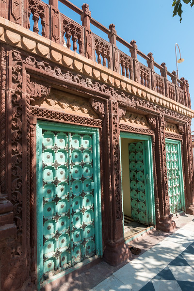 Interesting doors and architecture at Jaswant Thada, Jodhpur, Rajasthan, Western India.