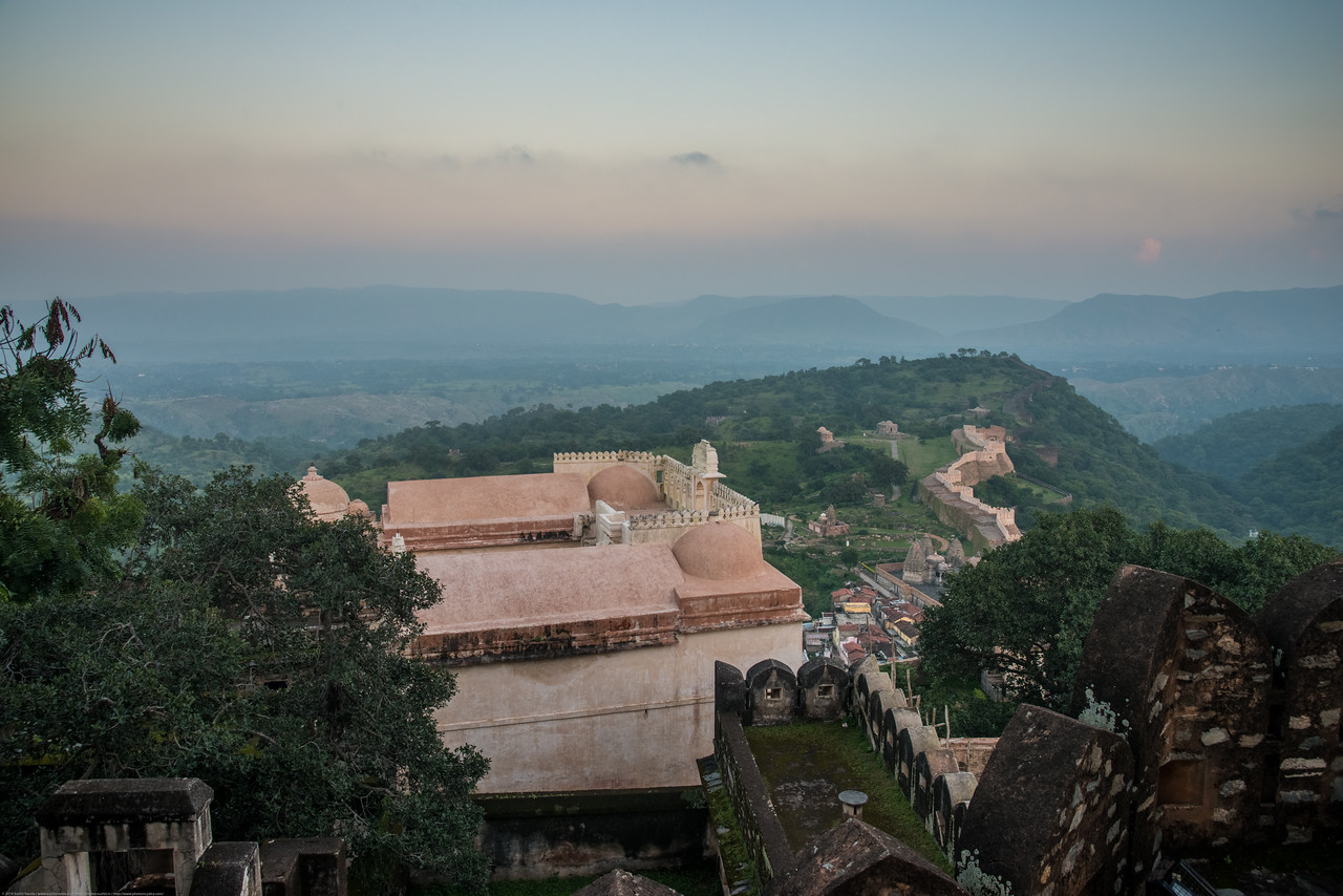 Kumbhalgarh Fort located on the westerly range of Aravalli Hills, in the Rajsamand District of Rajasthan state in western India is a Mewar fortress. It is a World Heritage Site included in Hill Forts of Rajasthan as per UNESCO. Built during the course of the 15th century by Rana Kumbha and enlarged through the 19th century, Kumbhalgarh is also the birthplace of Maharana Pratap, the great king and warrior of Mewar.