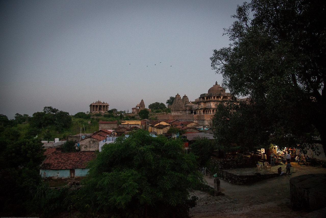 Evening view of Kumbhalgargh Fort. Kumbhalgarh is situated in the Kelwada tehsil of district Rajsamand. It is at a distance of about 80 km northwest of Udaipur amidst the Aravalli hills. Due to its strategic location, it is considered as the second most important fort of Rajasthan. Its construction is attributed to Rana Kumbha between AD 1443 and 1458 under the supervision of famous architect Mandan. The fort was constructed on the site of an older castle which is ascribed to Samprati, a Jaina prince of the second century BC.