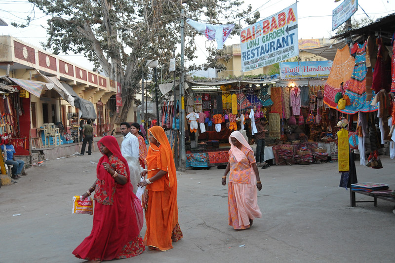 Street shopping in Pushkar, RJ.<br /> <br /> The town of Pushkar is located 14 km North West of Ajmer. Pushkar is one of the oldest cities of India. It  has in recent years become a popular destination for foreign tourists. Pushkar, Rajasthan, India.