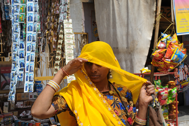 Shopping in Pushkar, RJ.<br /> The town of Pushkar is located 14 km North West of Ajmer. Pushkar is one of the oldest cities of India. It  has in recent years become a popular destination for foreign tourists. Pushkar, Rajasthan, India.