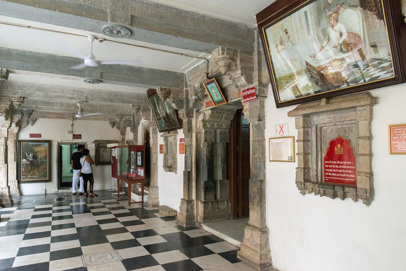 Haldi Ghati Gallery at City Palace, Udaipur, Rajasthan, India.