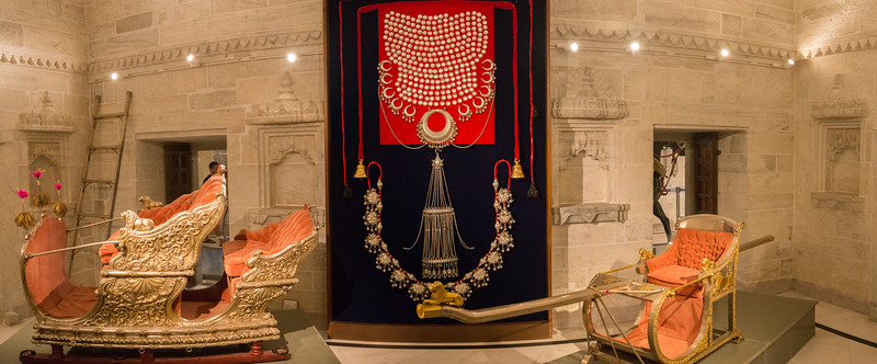 The City Palace Museum, Udaipur was set up in 1969 by Maharana Bhagwat Singh ji to safeguard and preserve the cultural heritage and the time honoured traditions of the people of Mewar.<br /> City Palace, Udaipur, Rajasthan, India.