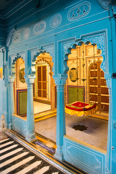 Royal Swing inside the Palace. City Palace, Udaipur, Rajasthan, India.