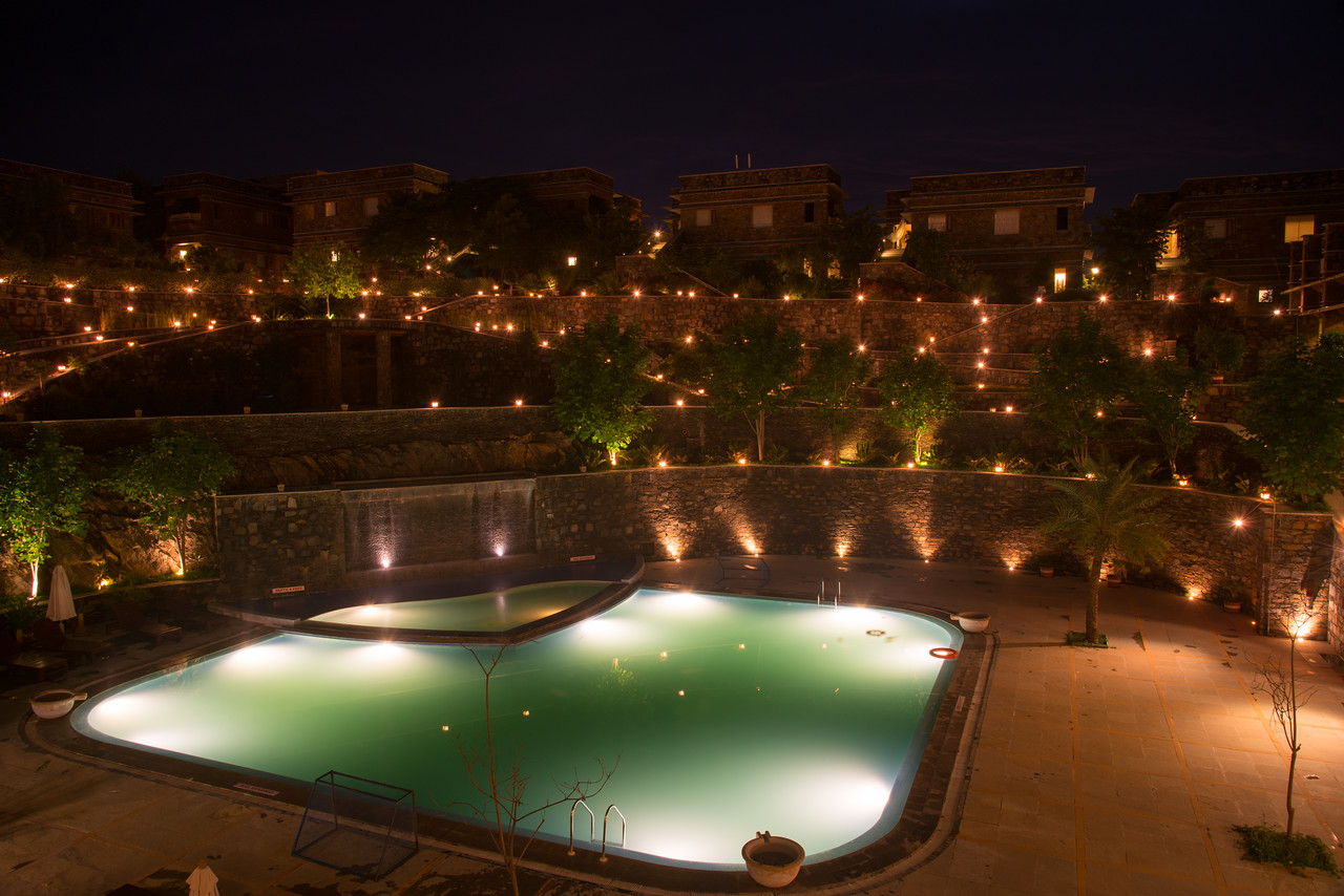Ramada Udaipur Resort and Spa, Udaipur, Rajasthan, India<br /> <br /> Built in an ornate, Tekri Work building, this elegant spa hotel is 4.7 km from the Jagdish Temple and 5 km from the Monsoon Palace which is visible from the hotel.