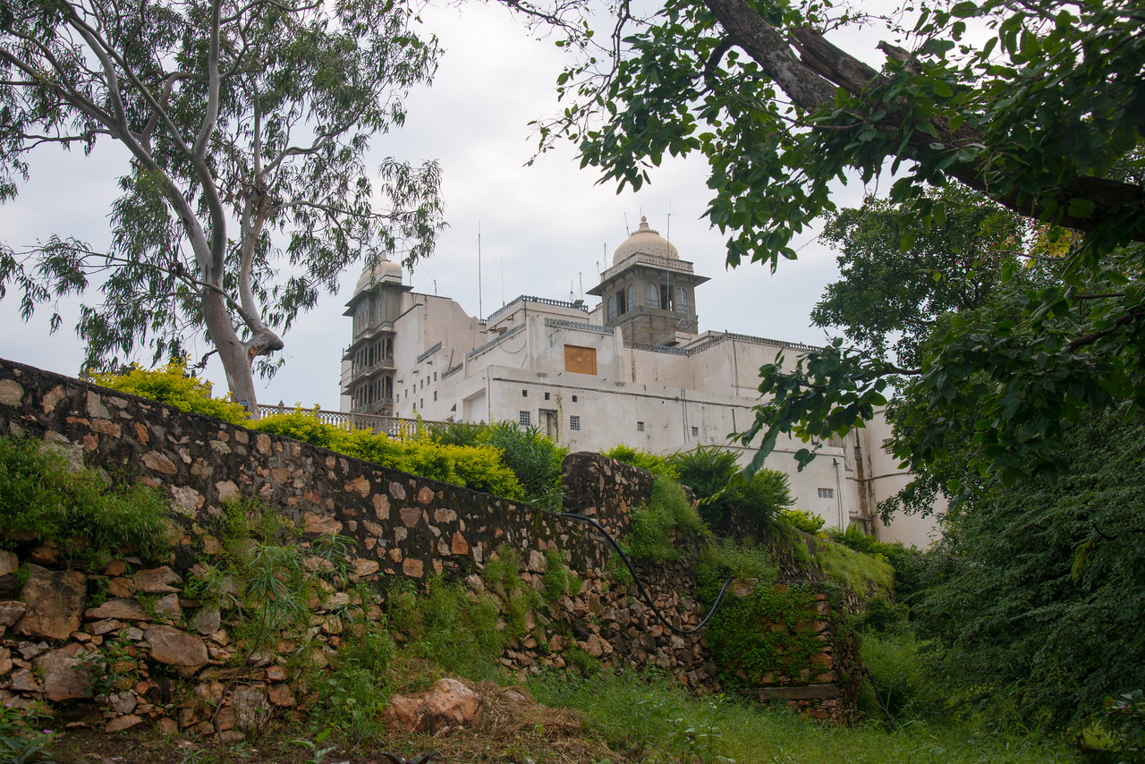The Monsoon Palace, also known as the Sajjan Garh Palace, is a hilltop palatial residence in the city of Udaipur, Rajasthan in India, overlooking the Fateh Sagar Lake. The palace, built with white marble, is located on Bansdara peak of the Aravalli hill range at an elevation of 944 m (3100 ft) above mean sea level, overlooking Lake Pichola from the west about 1,100 ft (340 m) below the palace. The intention of the original planner, Maharana Sajjan Singh, was to build a nine storey complex, basically as an astronomical centre and to keep track of the movement of monsoon clouds in the area surrounding the palace, and also to provide employment to people. It was also meant to serve as a resort for the royal family.