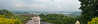 Panoramic view from The Monsoon Palace, also known as the Sajjan Garh Palace. A hilltop palatial residence in the city of Udaipur, Rajasthan in India, overlooking the Fateh Sagar Lake.