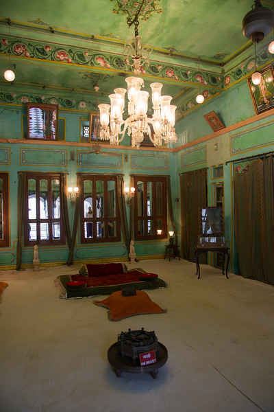 Inner royal rooms at City Palace, Udaipur, Rajasthan, India.