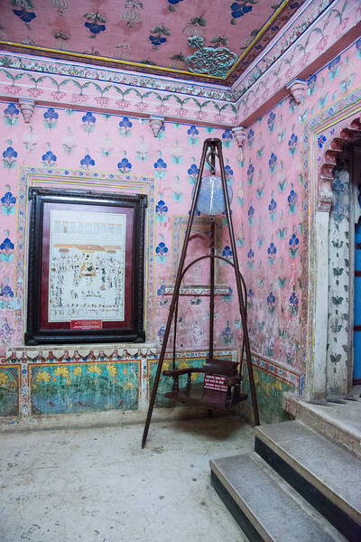 Weighing scale used by Maharana Bhupal Singh. City Palace, Udaipur, Rajasthan, India.