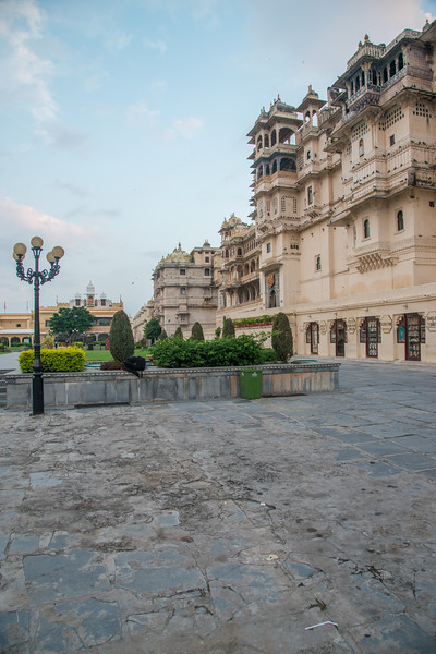 City Palace lawns at Udaipur, Rajasthan, India.