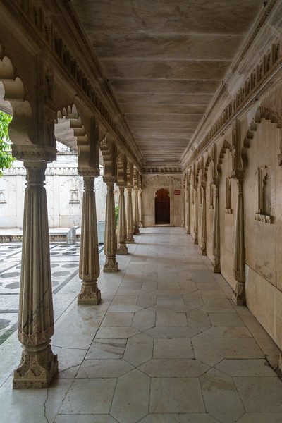 Passage at City Palace, Udaipur, Rajasthan, India.