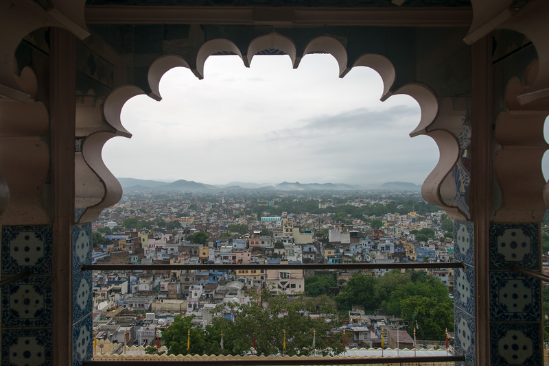 City view from City Palace, Udaipur, Rajasthan, India.