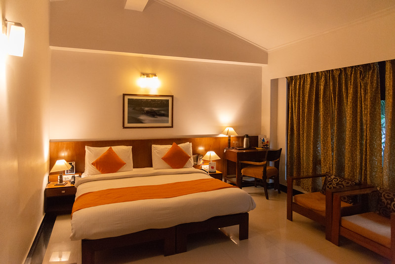 Room at Club Mahindra Baiguney, क्लब महिंद्रा बैगुनी, Jorethang, Sisney, Pipaley, Sikkim 737121. North East India.<br /> <br /> Set on 12 acres overlooking the Rangeet River, this cozy mountainside resort is 23 km from Tenzing Rock and 29 km from the Padmaja Naidu Himalayan Zoological Park.