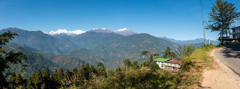 Panoramic view of Kanchenjunga, Pelling-Rimbi Rd, Pelling City, Sikkim.