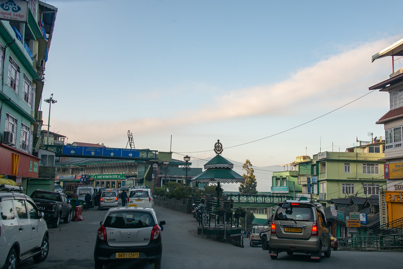 Clean roads at M.G. Road in Gangtok city, Gangtok, East Sikkim, India.