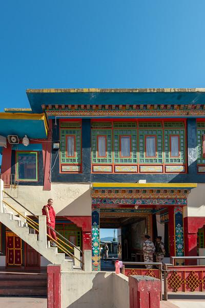 Rumtek Dharma Chakra Centre (रूमटेक धर्मचक्र केन्द्र), Tsurphu Labrang Pal Karmae Sangha Dhuche, Sikkim, India. Colourful 17th century tranquil Buddhist monastery.
