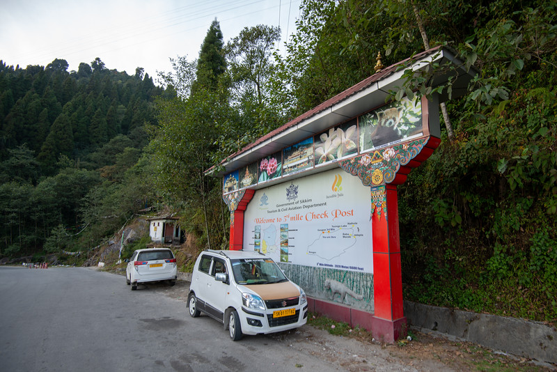 3rd Mile Check Post (अविश्वसनीय भारत) and tourist centre in Gangtok, East Sikkim, India.