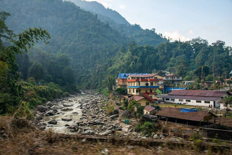 View of Ranikhola river, Rani Khola, Gangtok-Rangpo Road, Gangtok, Sikkim, India.