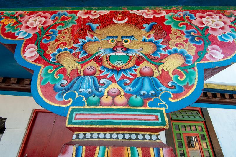 Rumtek Dharma Chakra Centre (रूमटेक धर्मचक्र केन्द्र), Tsurphu Labrang Pal Karmae Sangha Dhuche, Sikkim, India. Colourful 17th century tranquil Buddhist monastery. North East India.