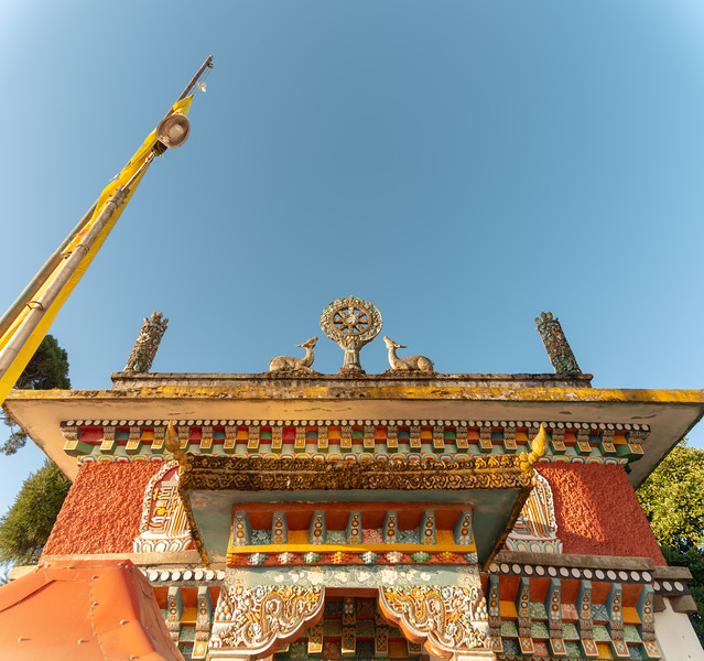 Pemayangtse Monastery (पेमयांग्त्से मोनास्ट्री), Geyzing, Sikkim, North East India. Multi-level historic buddhist monastery built in the 17th century and featuring a number of traditional statues, sculptures & paintings.