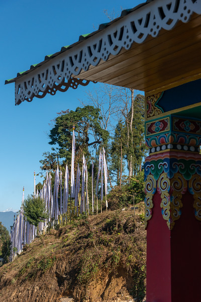 Sanghak Choeling Monastery (संघक चोएलिंग मोनास्ट्री), Pelling City, Sikkim is a 17th-century Buddhist monastery in a remote area on a hill. North East India.