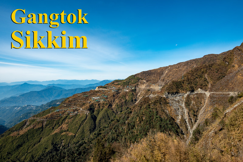 Gangtok, East Sikkim, North East India. Gangtok is located in the eastern Himalayan range, at an elevation of 1,650 m (5,410 ft).
