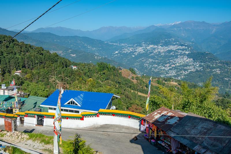 Rumtek Dharma Chakra Centre (रूमटेक धर्मचक्र केन्द्र), Tsurphu Labrang Pal Karmae Sangha Dhuche, Sikkim, India. Colourful 17th century tranquil Buddhist monastery with scenic views including Gangtok city.