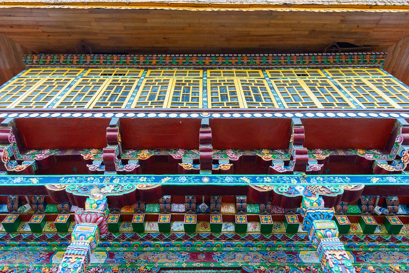 Pemayangtse Monastery (पेमयांग्त्से मोनास्ट्री), Geyzing, Sikkim. Multi-level historic buddhist monastery built in the 17th century and featuring a number of traditional statues, sculptures & paintings. North East India.
