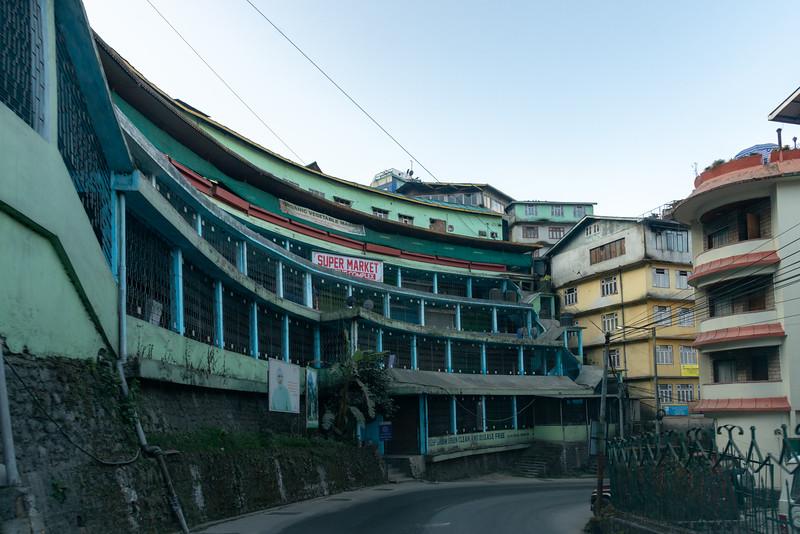Super market building near M.G. Road in Gangtok city, Gangtok, East Sikkim, India.