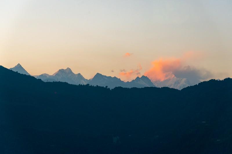 Sunset view in Gangtok, Gangtok, East Sikkim, India.