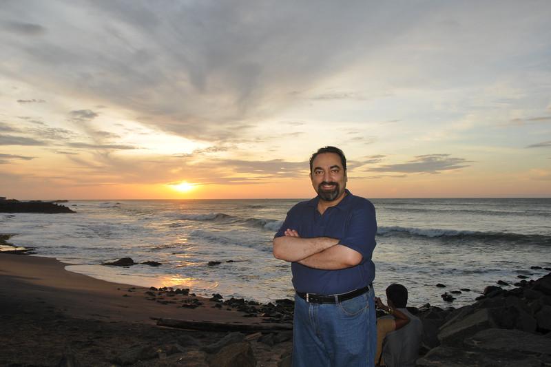 Suchit at Sunrise point in Kanyakumari, South India.