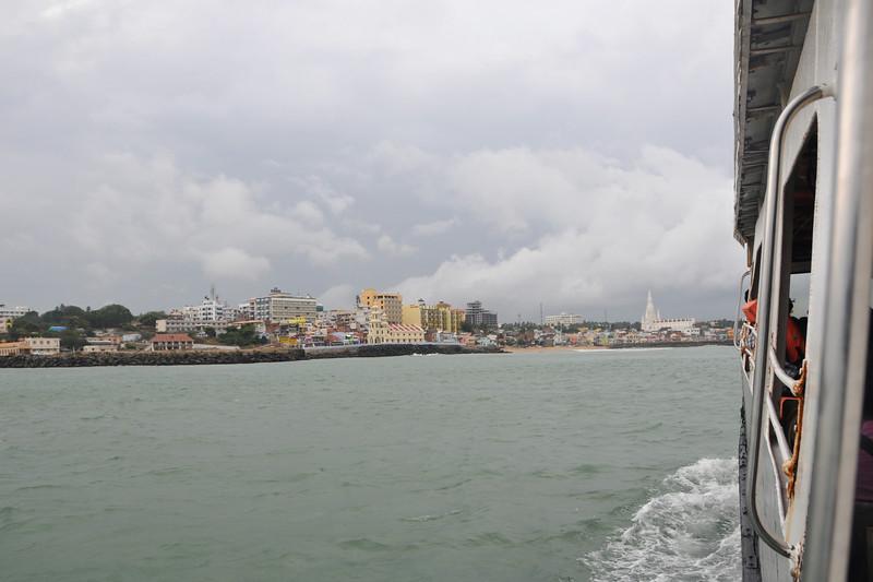 Short boat ride to Swami Vivekananda Rock at Kanyakumari, South India.