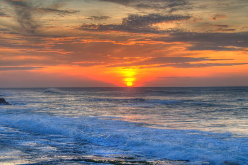 Beautiful sunrise at Kanyakumari, South India.